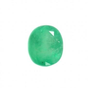 Smeraldo sfuso, taglio ovale sfaccettato