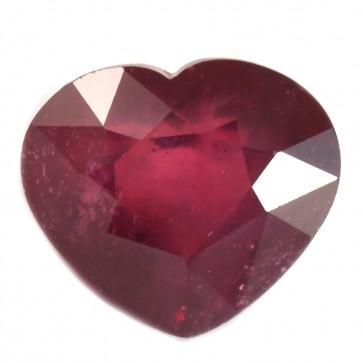 Rubino a cuore rosso sfuso, 15.08 ct