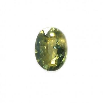 Zaffiro verde sfuso, taglio ovale -1.45 ct