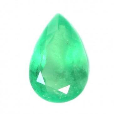 Smeraldo Colombia sfuso, taglio goccia sfaccettato - 3.86 ct