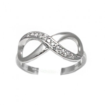 Anello infinito argento e zirconi