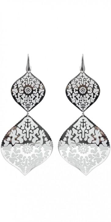 Maxi orecchini laserati argento