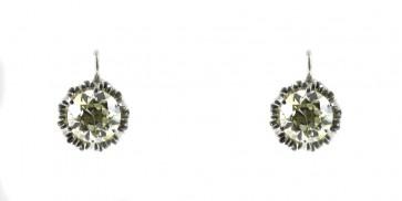 Orecchini solitari, in stile, oro e diamanti - 4,52 ct