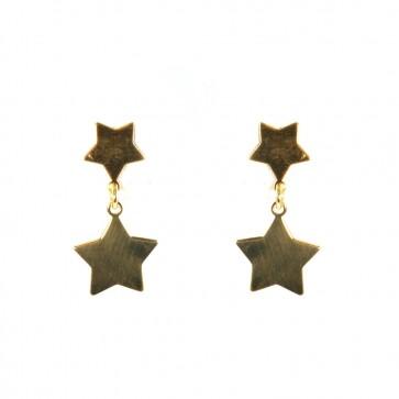 Orecchini doppie stelle argento