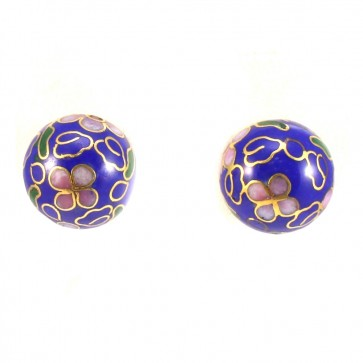 Orecchini al lobo boulle cristalli colorati di Murano