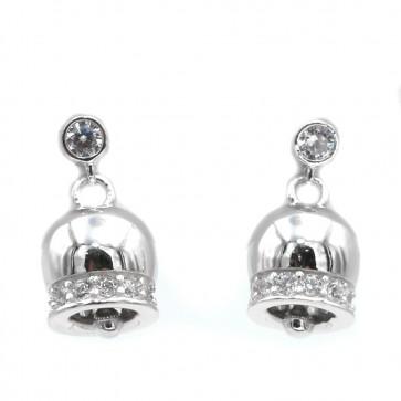 Orecchini campanella in argento bianco