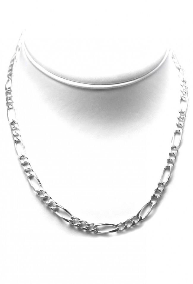 negozio online 28131 e3c9a Collana uomo catena grossa groumette 3+1 argento -50 cm; 33 gr