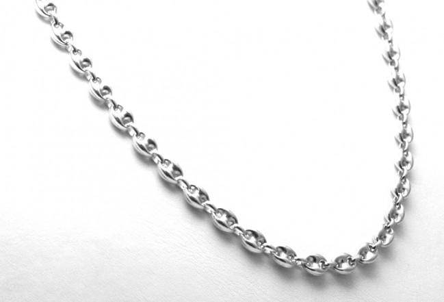 selezione migliore f1d99 44444 Collana uomo catena maglia marinara argento bianco