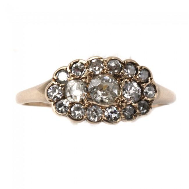 outlet 2ea0e 41e0f Anello antico art Nouveau-Liberty, oro e diamanti - 0.80-0.90 ct; 1.28 gr