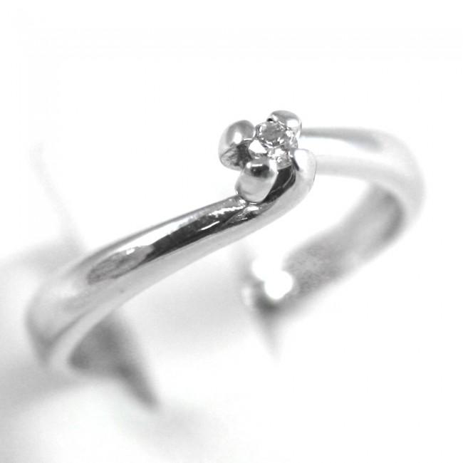 informazioni per fd684 c8fef Anello solitario, oro e diamante taglio brillante - 0,08 ct