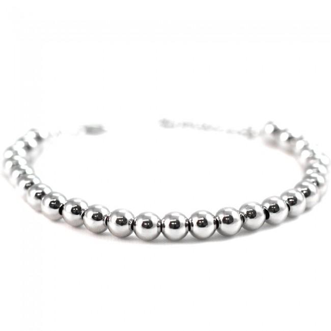 negozio online e4f48 a29b5 Bracciale palline argento -17 cm + 3 cm; 5 gr