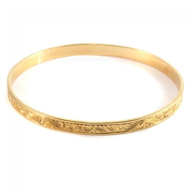 dettagliare bb9e5 74b54 Bracciale cerchio rigido periziato antico, oro giallo inciso - 25.8 gr