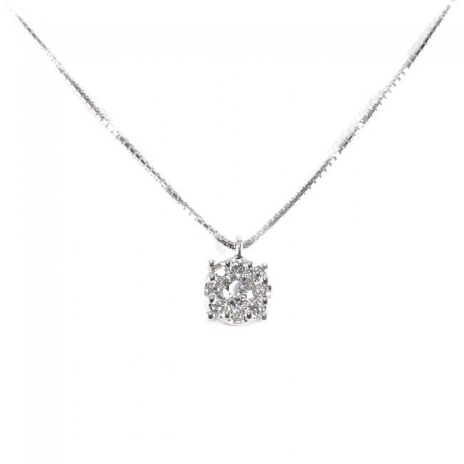 nuovo arrivo 76945 0a87b Ciondolo punto luce margherita circolare oro e diamanti - 0,36 ct; 3,7 gr