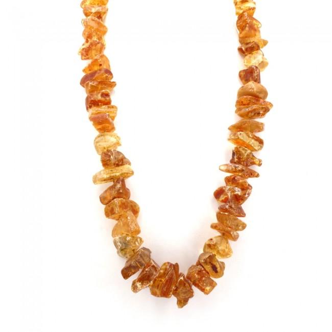 super popolare 9c8e1 d71a0 Collana ambra sassi semi-grezzi, 1.2-3.8 cm - 65 cm; 152.4 gr