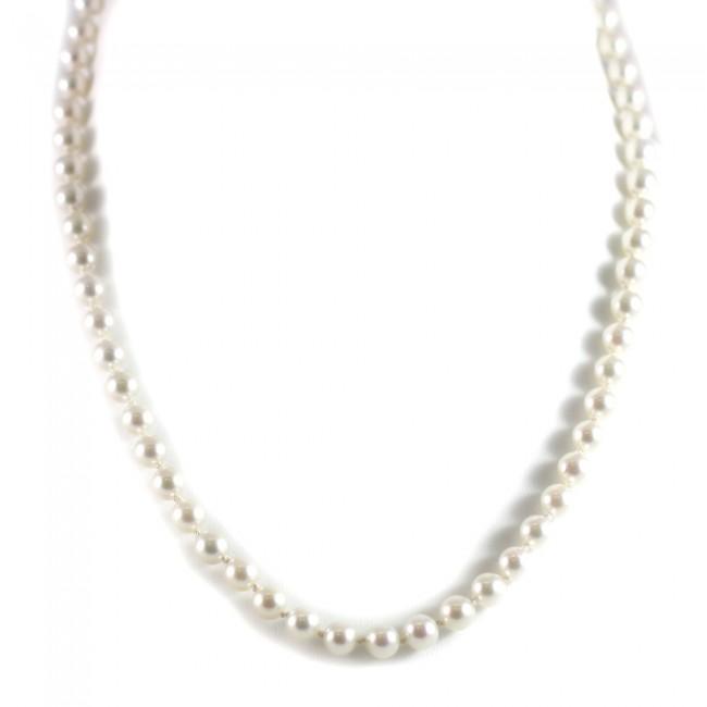 sito affidabile 92064 1c7d6 Collana di perle giapponesi - 6,5-7 mm- di mare e oro -31,4 gr; 49 cm
