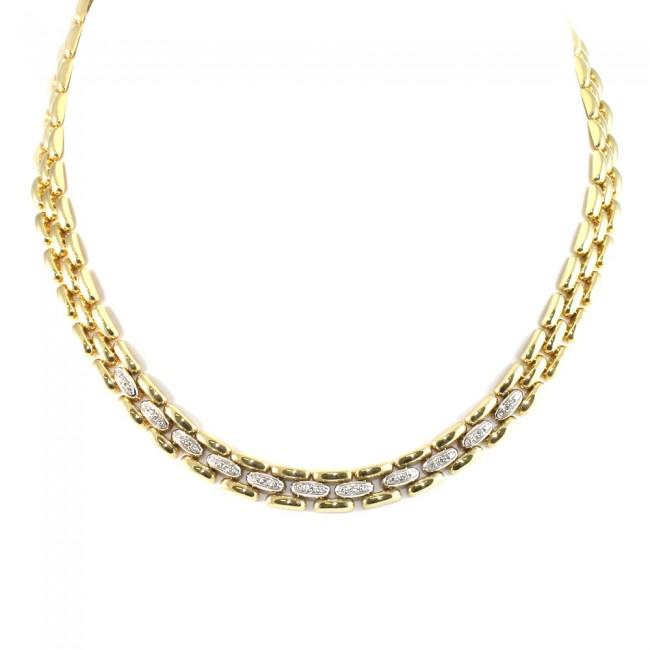 super popolare e3df3 3841e Collana collier Damiani catena con diamanti -0.35-0.40 ct- 41 cm; 51.2 gr