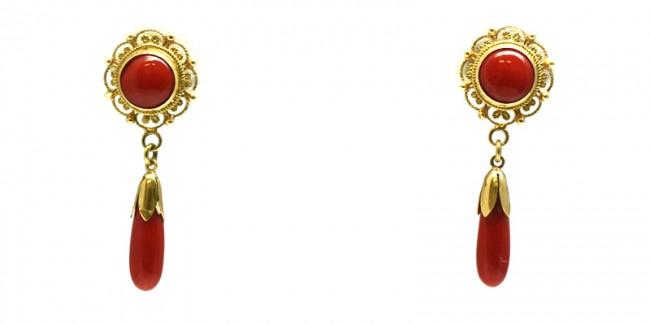 orecchini pendenti oro