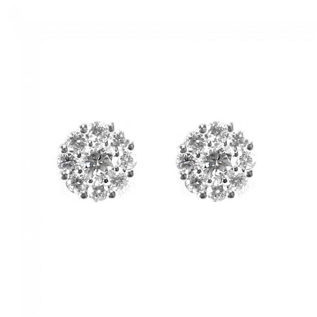 selezione più recente disabilità strutturali assolutamente alla moda Orecchini punti luce margherite circolari oro e diamanti - 0,78 ct; 2,6 gr