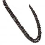 Collana 2 fili granato e oro - 183.5 gr; 60 cm