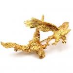 Spilla antica scultura aquile in volo, in oro -18.8 gr; 7.4 cm.