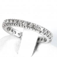 Anello eternelle oro e diamanti - 0,45-0,55 ct - Misura 13; 3 gr