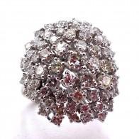 Anello fuoco d'artificio in oro e diamanti -5.6-5.70 ct; 13.91 gr