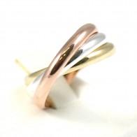Anello 3 fedi a 3 colori argento - 3,5 gr