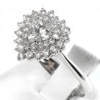 Anello cuore oro e diamanti - 1.15 ct; 3.5 gr