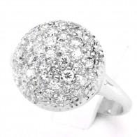 Anello palloncino in oro e diamanti -0.80-1.00 ct; 4.86 gr