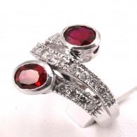 Anello contrariè oro con rubini - 2.40-2.60 ct - e diamanti - 0.80-0.90 ct; 6.45 gr