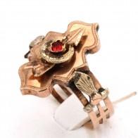 Anello antico cesellato a mano oro; 2.53 gr