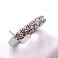 Anello riviera oro e 5 diamanti -0.45-0.50 ct; 3.63 gr