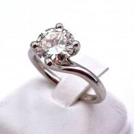 Anello solitario, certificato IGI, oro e diamante - 1.84 ct; I VS1; 4.26 gr