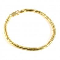 Bracciale tubo gas-coda di topa argento dorato -20,5 cm x 0,4 cm; 10,7 gr