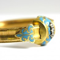 Bracciale antico capolavoro, in oro giallo, smalti e diamanti - 1,10-1,20 ct; 33,3 gr