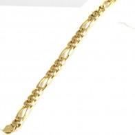 Bracciale uomo oro maglia 3+1 - 24 cm; 28 gr