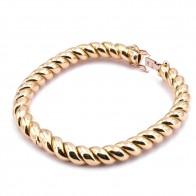 Bracciale oro ritorto ovalizzato rigido - 38.59 gr