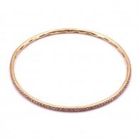 Bracciale rigido Pippo Perez oro e zaffiri rosa -2.32 ct- 9.05 gr