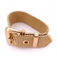 Bracciale cintura catena maglia oro, fascia larga 2.4 cm - 84.6 gr