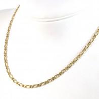 Collana catena uomo oro, maglia 1+1 - 46 cm; 14.33 gr