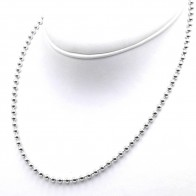Collana palline uomo-donna  argento - 50 cm; 21.9 gr
