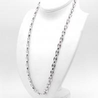 Collana uomo maxi marinara argento - 80 cm; 165.9 gr