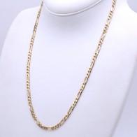 Collana catena uomo oro, maglia 3+1 - 60 cm; 39 gr