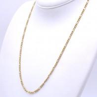 Collana catena uomo oro, maglia 3+1 - 60 cm; 9.35 gr