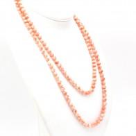 Collana endless di corallo rosa, sferico - 7 mm. 88.13 gr; 130 cm
