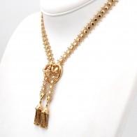 Collana modello saliscendi oro, vintage. 37.08 gr