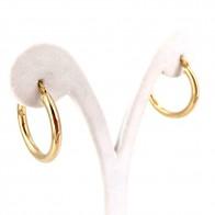 Orecchini anelle, oro giallo; 2.68 gr