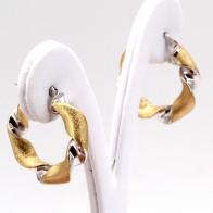 Orecchini ad anelle, oro ritorto bicolore; 2.7 cm - 4.29 gr