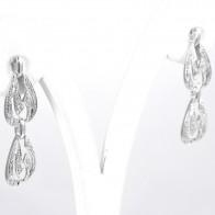 Orecchini pendenti in stile liberty oro e diamanti - 0.35-0.40 ct- 4 gr