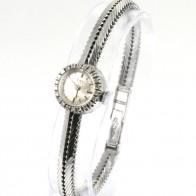Orologio da polso REWEL Svizzera, anni'50-'60, d'oro 18 ct e diamanti - 0,22-0,35 ct- carica manuale -17,5 cm x 1,6 cm. 23,9 gr.